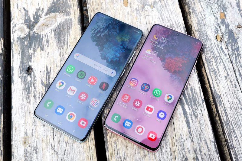 Näytöt ovat Galaxy S20 5G:n ja S20+ 5G:n vahvuuksia.