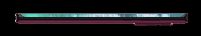 Motorola edge+:n näyttö kaartuu merkittävästi puhelimen sivuille. Oikealta kyljeltä löytyvät kuitenkin yhä myös tavalliset fyysiset virtapainike ja äänenvoimakkuuden säätöpainike.