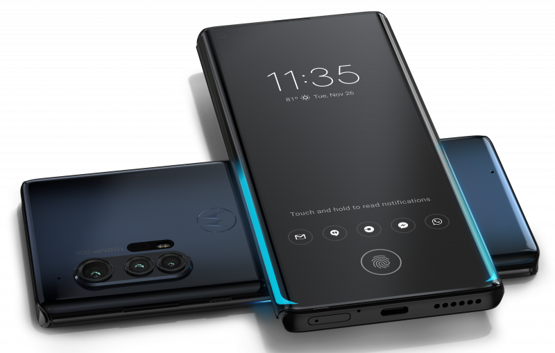 Motorola edge+ tukee myös langatonta virranjakoa muille laitteille.