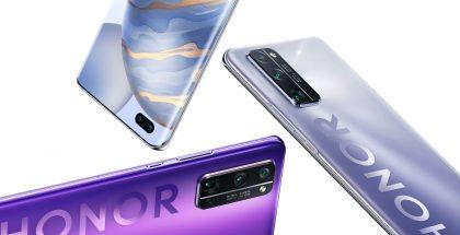 Kuvassa Honor 30 Pro -sarjan älypuhelimia.