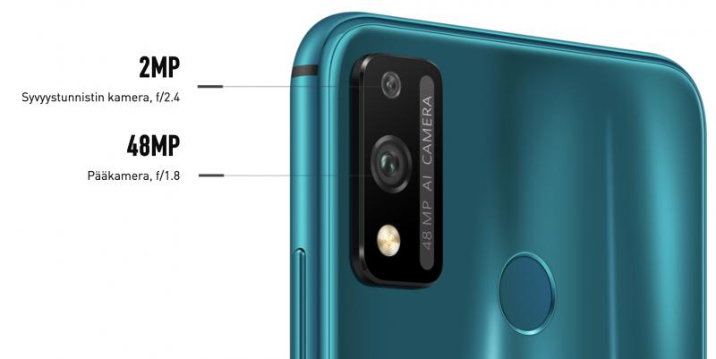 Honor 9X Litessä on kaksi takakameraa.