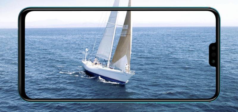 Honor 9X Liten 6,5 tuuman näyttö tarjoaa 91 prosentin näyttö-runkosuhteen.
