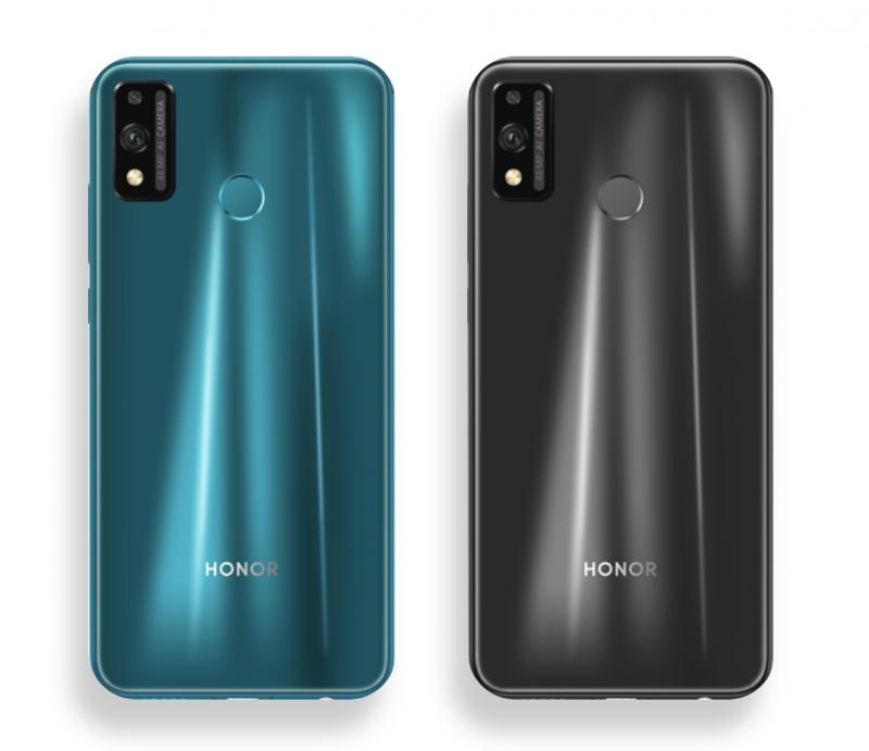 Honor 9X Liten värivaihtoehdot ovat vihreä ja musta.