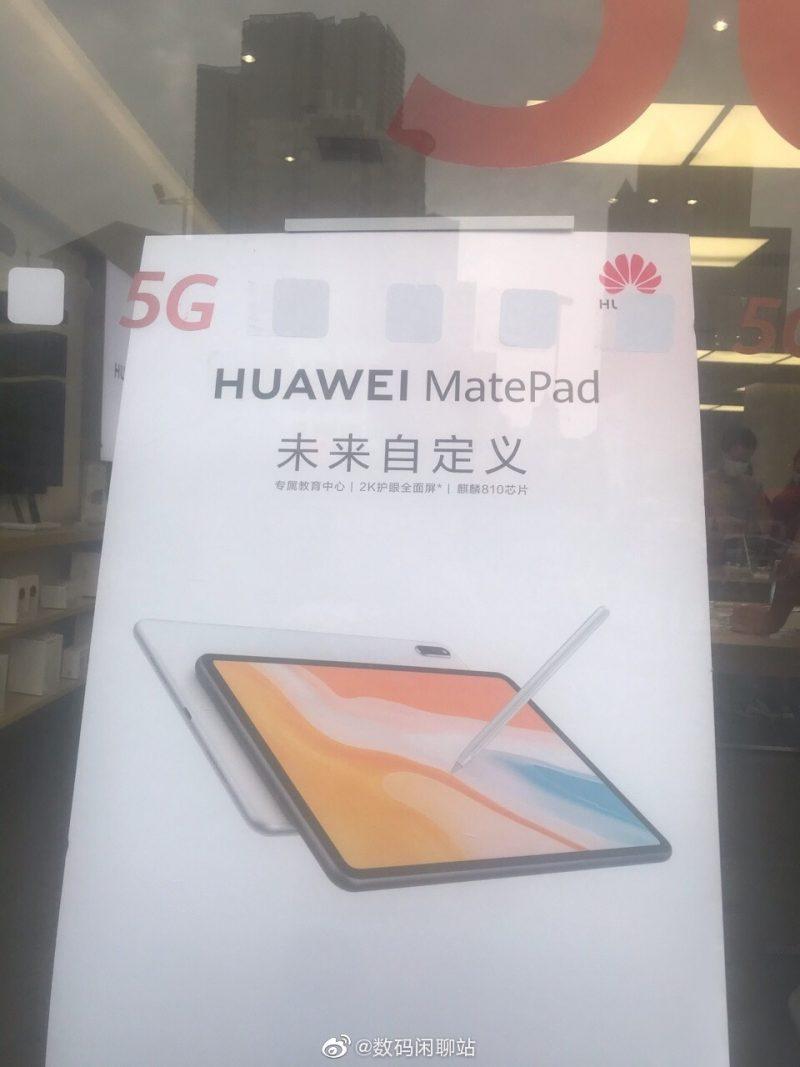 Huawei MatePad paljastui jo mainosjulisteessa.