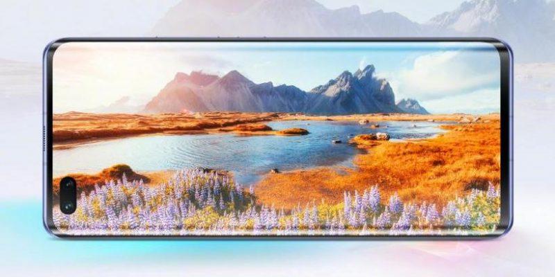 Nova 7 Pro 5G:ssä on sivuille kaartuva 6,57 tuuman näyttö.