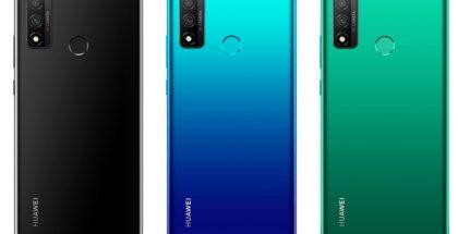 Huawei P Smart 2020 eri väreissä.