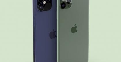 Etualalla iPhone 11 Pro Max ja taustalla seuraavan sukupolven mallin renderöinti odotetulla sinisellä värillä. Kuva: EverythingApplePro.