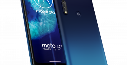 Motorola Moto G8 Power Lite Royal Blue -värinä.