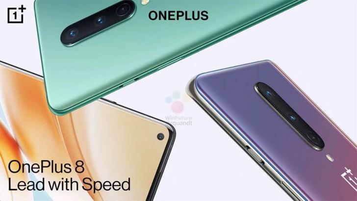 OnePlus 8:n eri värejä. Kuva: WinFuture.de.