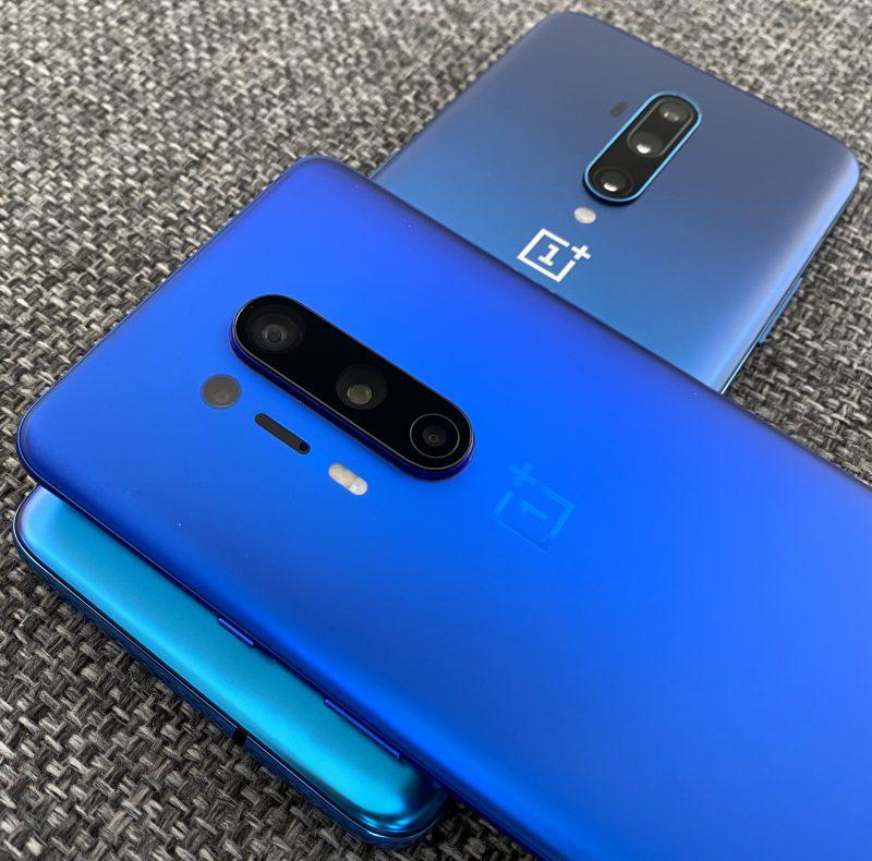 OnePlus 8 Pro ja OnePlus 7T Pro. Toistaiseksi OnePlus-puhelimissa on nähty 48 megapikselin kameratarkkuus, OnePlus 8 Prossa pääkameran ohella myös ultralaajakulmakamerassa.