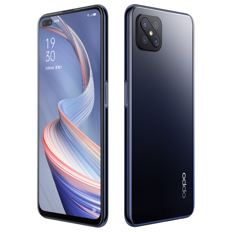 Oppo A92 mustana.