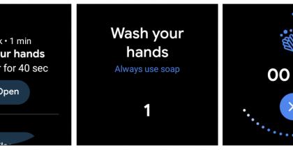Googlen Wear OS on saanut päivityksenä käsienpesumuistutuksen. Kuva: Android Police.