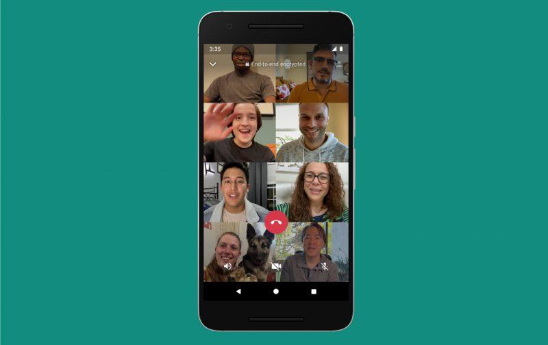 WhatsAppin videopuheluihin voi jatkossa osallistua kahdeksan käyttäjää.