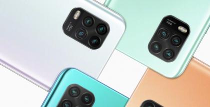 Kiinan markkinoille esiteltävä Xiaomi Mi 10 Youth Edition eri väreissä. Esillä takakameranelikko.