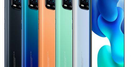 Xiaomi Mi 10 Youth Edition 5G:n värivaihtoehdot.