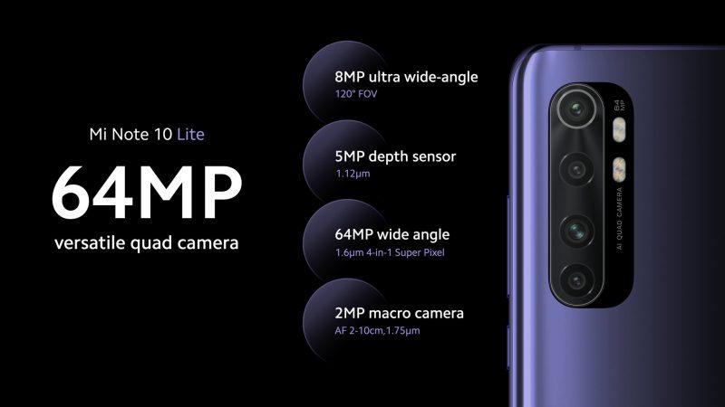 Mi Note 10 Liten neljä takakameraa.