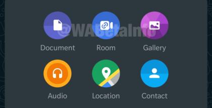 Messenger Rooms -keskusteluun voi liittyä WhatsAppin mediavalikosta.