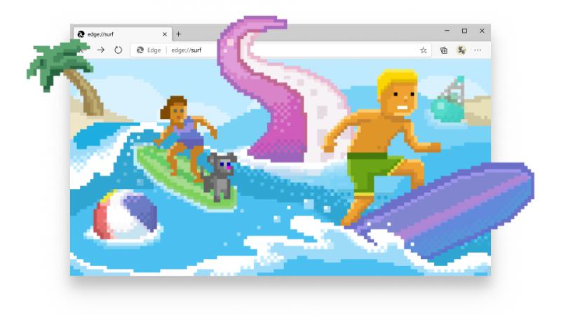 Microsoftin Edge-selaimeen on lisätty surffauspeli.