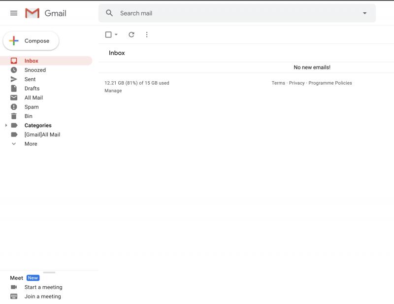 Gmailin vasempaan sivupalkkiin on ilmestynyt monia ärsyttävä Google Meet -kehotus.