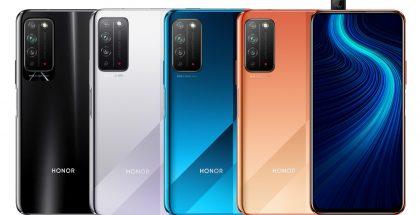 Honor X10 eri väreissä. Kuva: Ishan Agarwal.