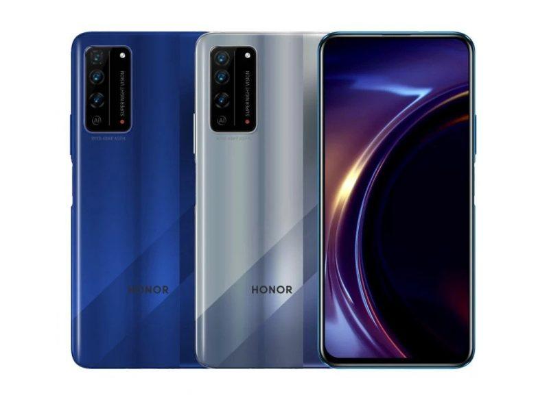 Honor X10 Pro (sininen) ja Honor X10 (harmaa) vuotaneessa kuvassa.
