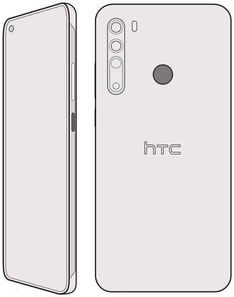 HTC Desire 20 Pro. Evan Blassin julkaisema mallikuva.