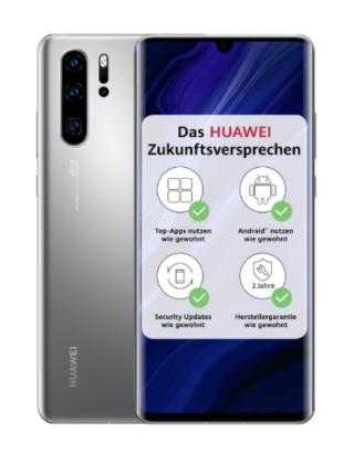 Huawei P30 Pro uudessa Silver Frost -värissä.