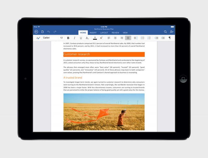 Microsoft Word iPadissa.