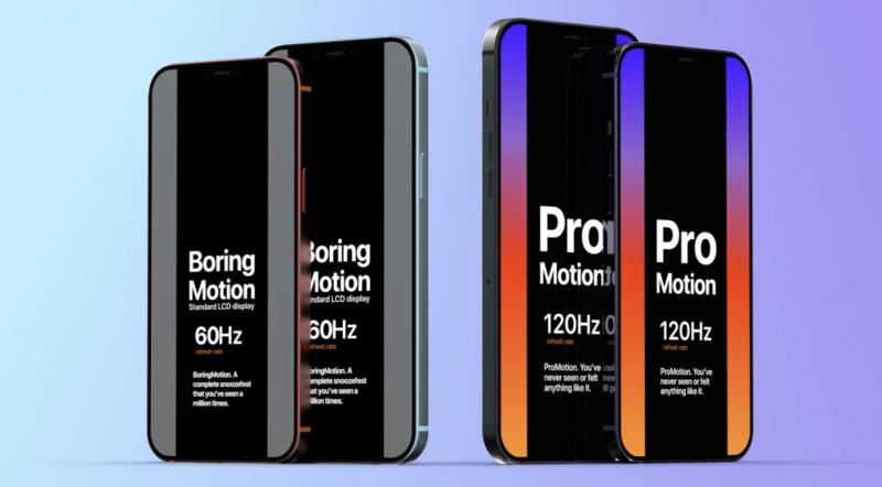 Uudet iPhone-huippumallit ovat saamassa 120 hertsin ProMotion-näytön mutta edullisemmat jatkavat 60 hertsin näytöllä.