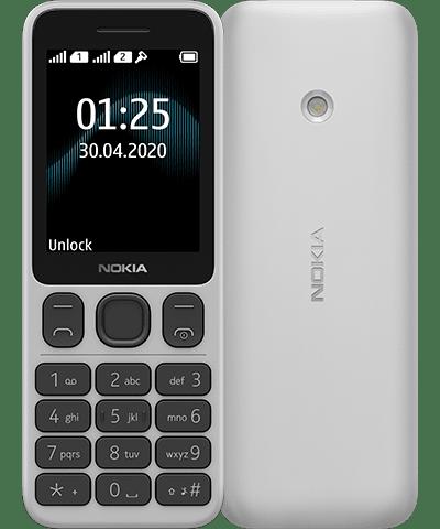 Valkoinen Nokia 125.