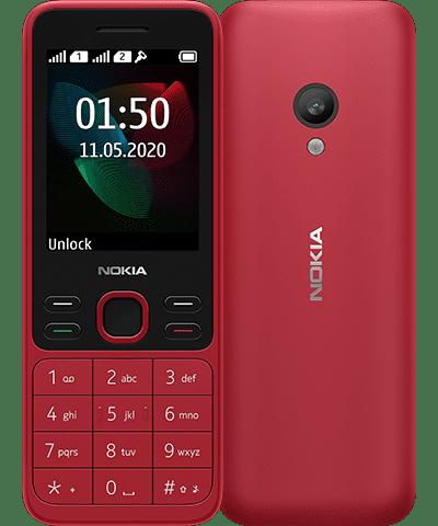 Punainen Nokia 150.