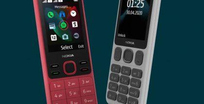 Punainen Nokia 150 ja valkoinen Nokia 125.