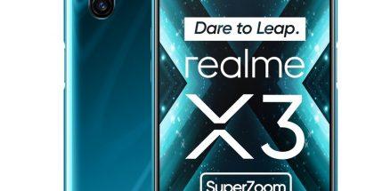 Realme X3 Superzoom sinivihreänä värinä.