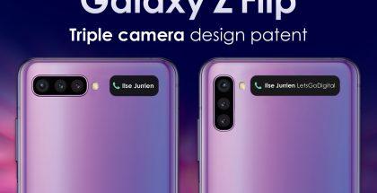 Samsungin Galaxy Z Flipin seuraaja voi sisältää kolme kameraa ulkopuolella. Kuva: LetsGoDigital.