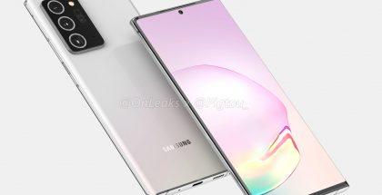 Samsung Galaxy Note20 -sarjan huippumalli. Kuva: OnLeaks / Pigtou.