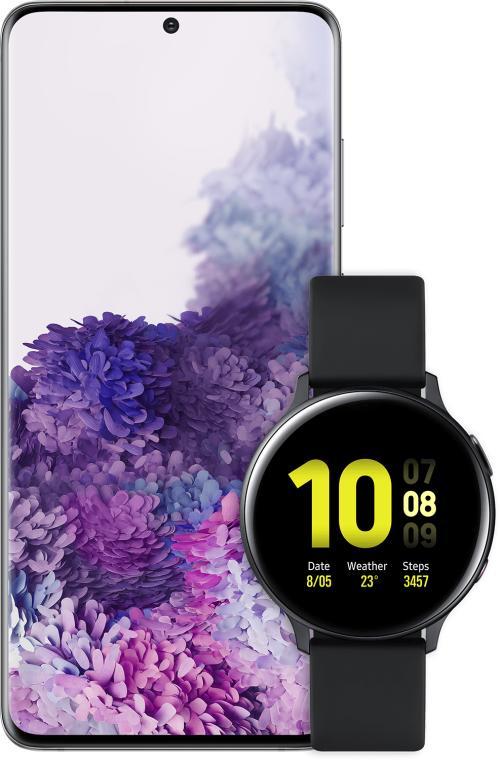 Samsungin Galaxy S20 -puhelinten ostajillle on nyt tarjolla kaupan päälle Galaxy Watch Active2 -älykello.