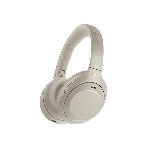 Sony WH-1000XM4 -kuulokkeet hopeana värivaihtoehtona.