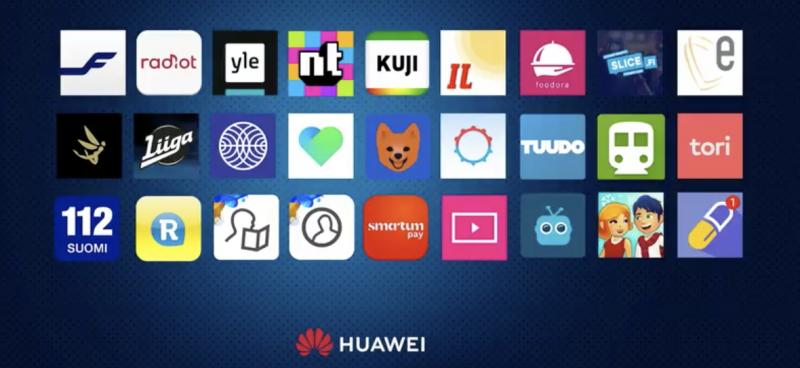 Huawein AppGalleryssa julkaistuja paikallisia sovelluksia.