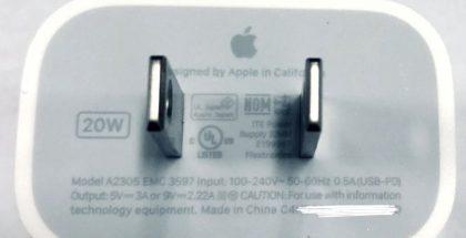 Väitetty Applen uusi 20 watin laturi.
