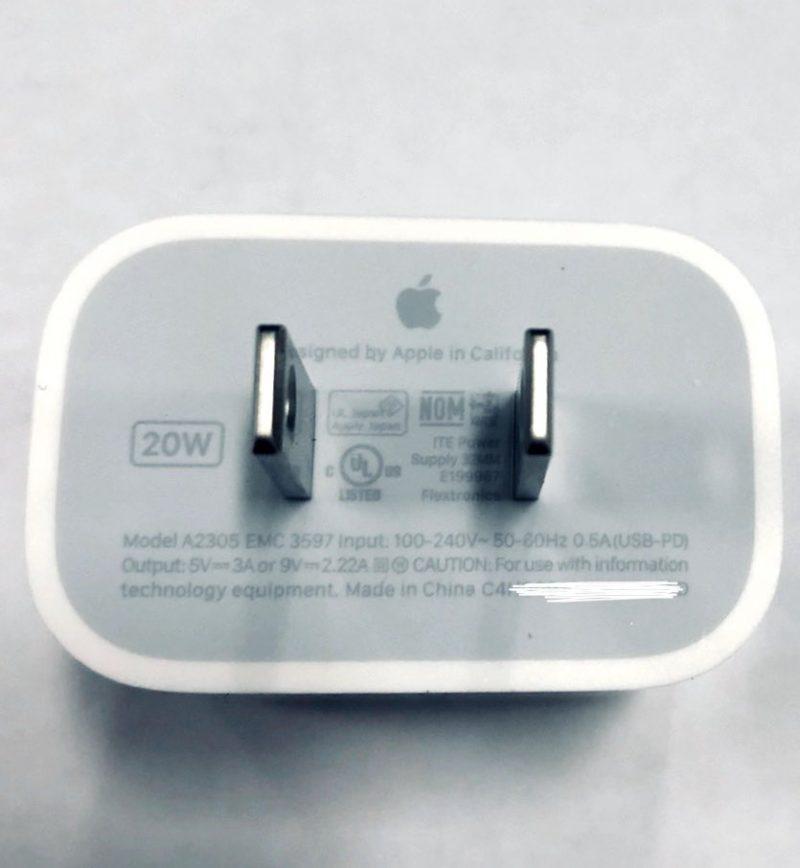 Vuotokuvassa Applen uusi 20 watin laturi.