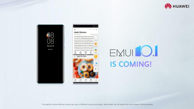 EMUI 10.1 tulee laajalle joukolle Huawei-laitteita.