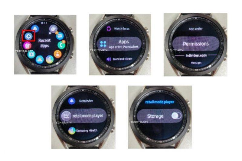 Samsung Galaxy Watch3 vuotaneissa kuvissa.