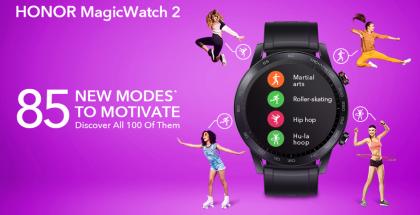 Honor MagicWatch 2 saa päivityksellä 85 uutta vaihtoehtoa harjoitusten seurantaan.
