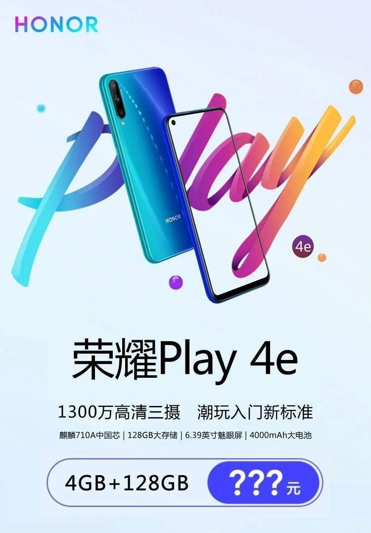 Kuva kertoo Honor Play 4e:stä.