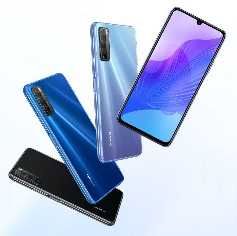 Huawei Enjoy 20 Pro eri väreissä.