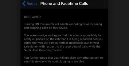 Puhelujen nauhoitustoiminto iOS 14:ssä on näillä näkymin tarkoitettu vain Applen sisäiseen käyttöön sen työntekijöille.