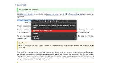 Googlen uusi Chrome-lisäosa mahdollistaa tiettyyn osaan sivua johtavien linkkien luomisen.