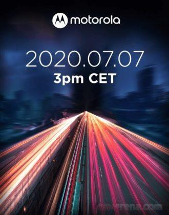 Motorola julkistaa uutta 7. heinäkuuta kello 15 Keski-Euroopan ja kello 16 Suomen aikaa.