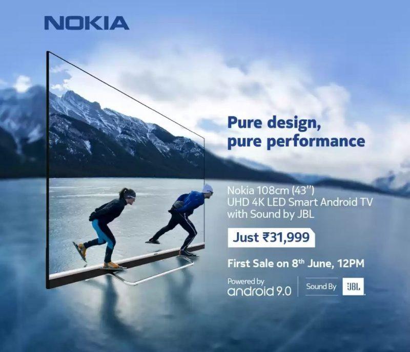 Nokia Smart TV:stä esiteltiin myös pienempi 43 tuuman malli.