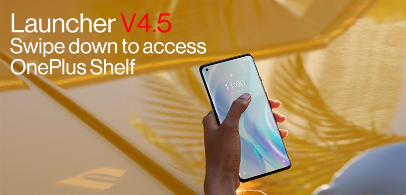OnePlus Launcherin uusi versio tuo uuden tavan avata Shelf-näkymä.